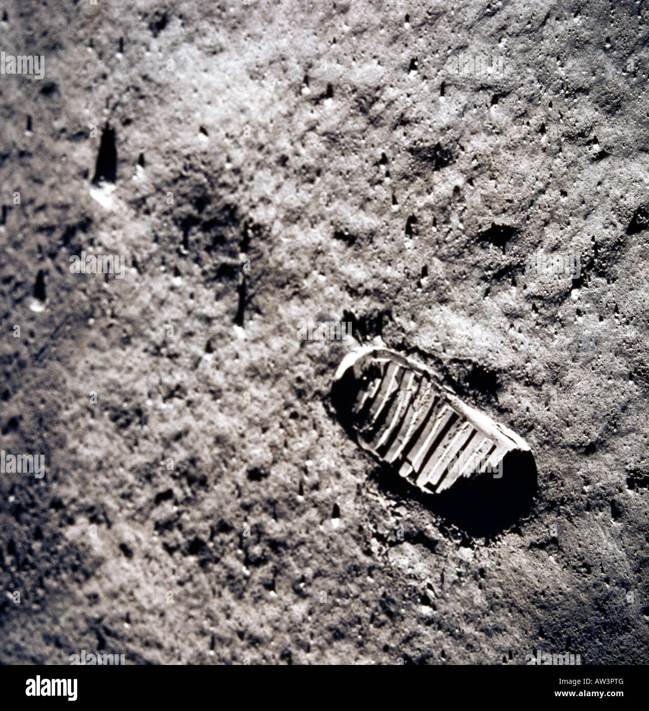 Empreinte sur la Lune Photo Stock