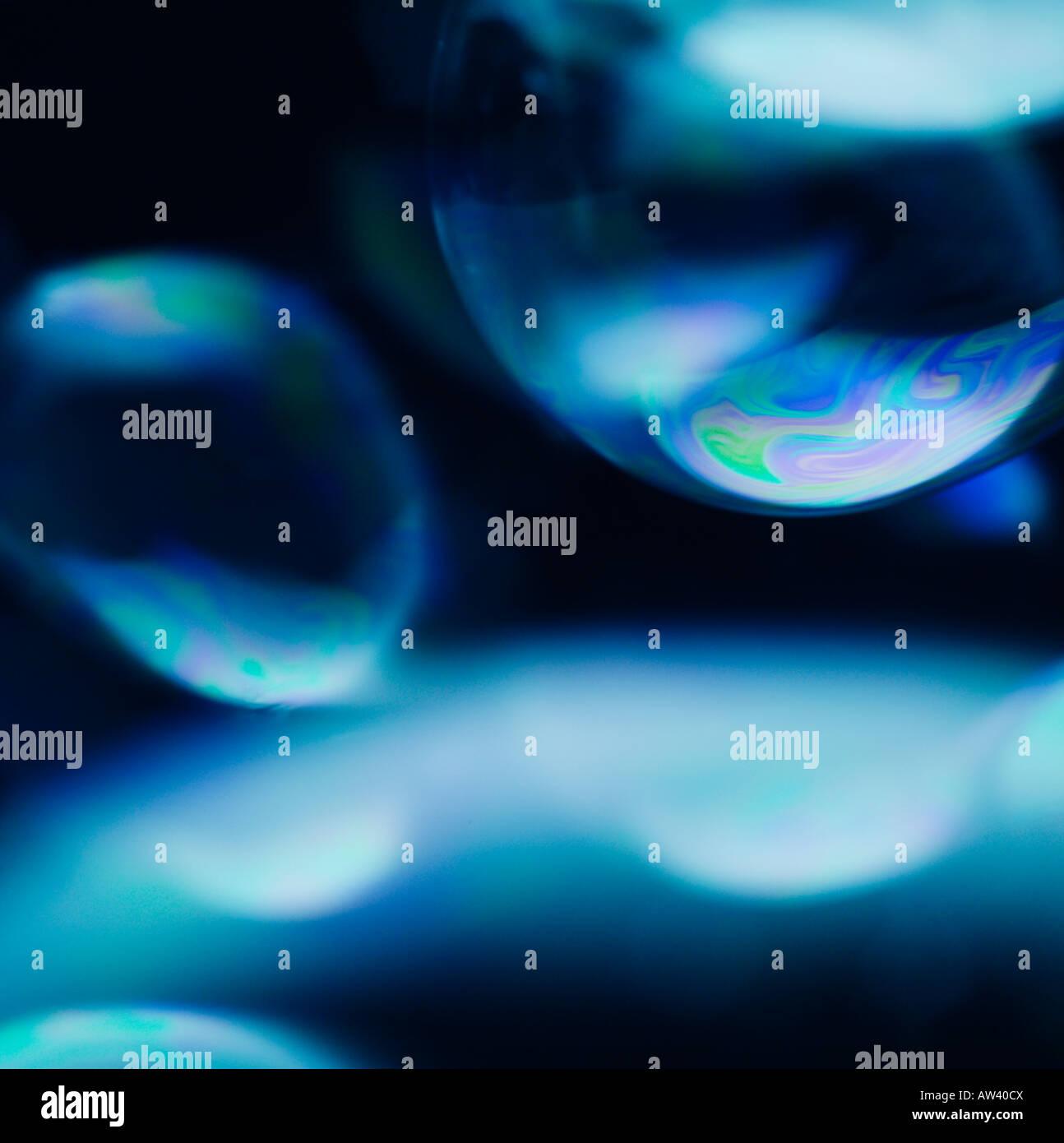 Fine art abstrait de droit, des bulles de savon Photo Stock