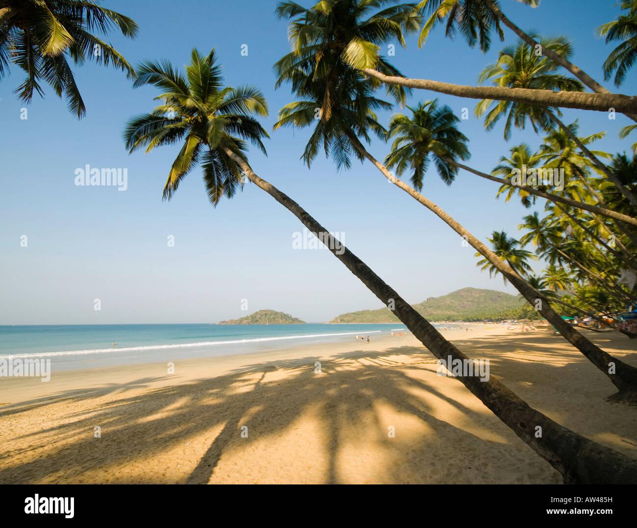 Plage de Palolem à Goa en Inde du Sud Photo Stock