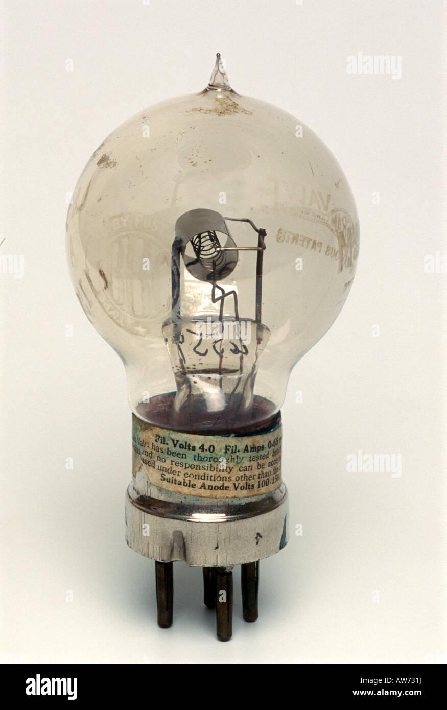Un tube à vide de diode précoce Photo Stock