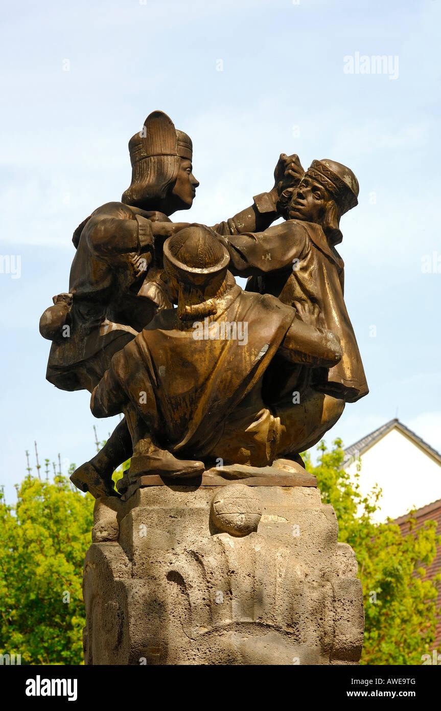 Carte Allemagne Thuringe.Skatbrunnen Fontaine De La Carte Les Joueurs De Skat Altenbourg