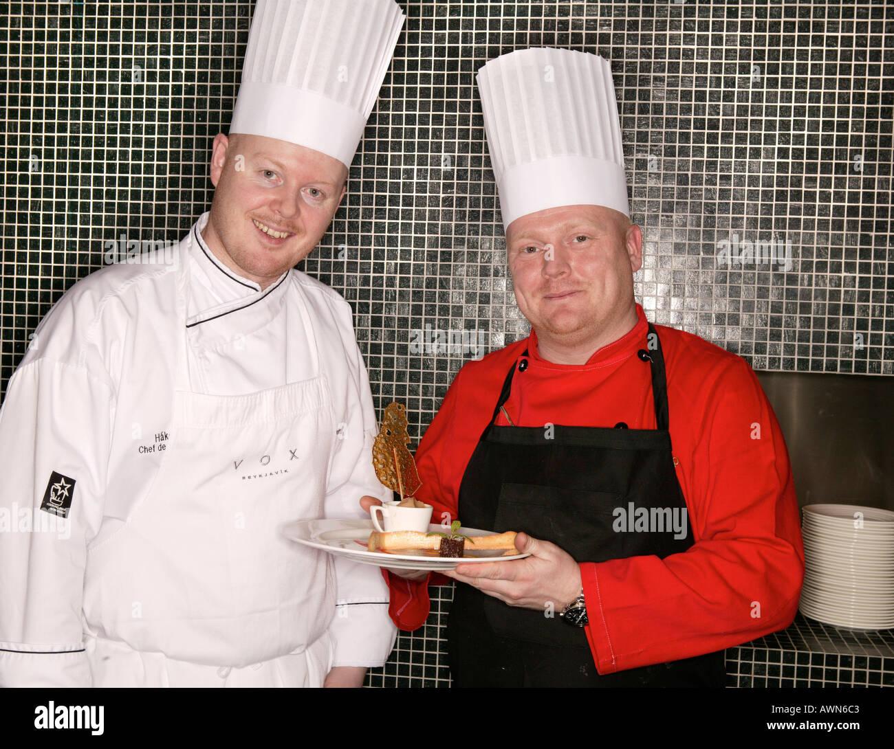Chefs Reykjavik Islande Photo Stock