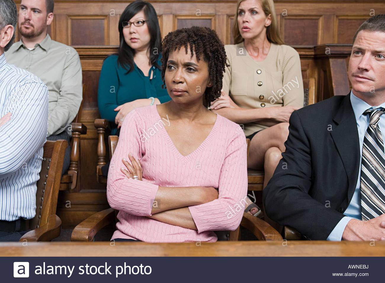 Les jurés dans le jury fort Photo Stock