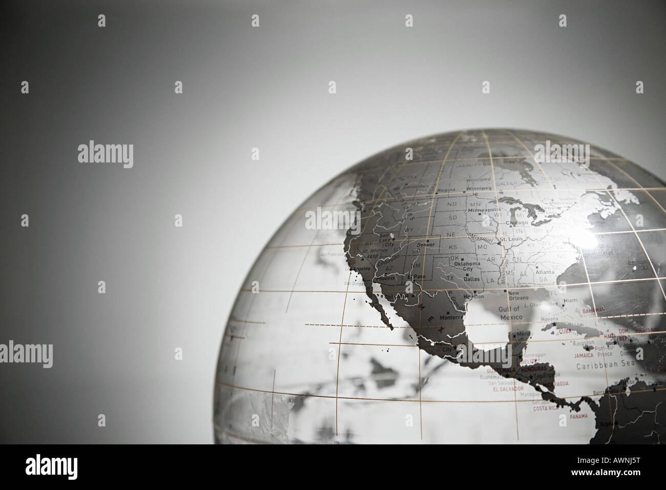 Globe d'argent Photo Stock