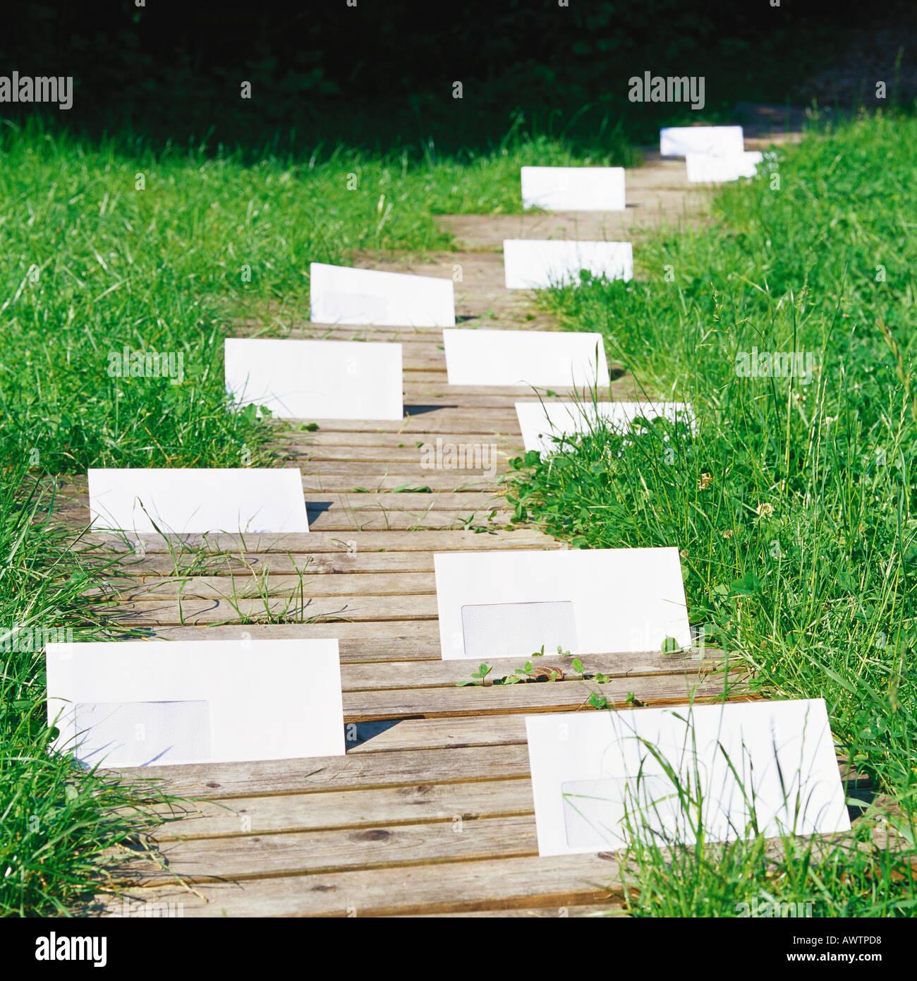 Chemin d'enveloppes Photo Stock