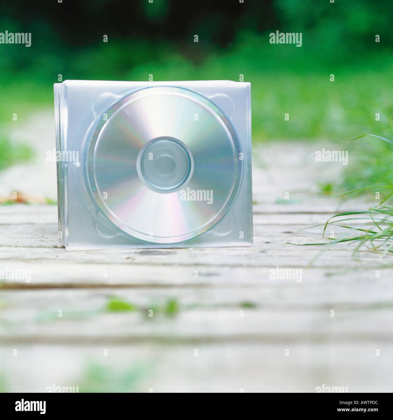 CD sur le chemin d'accès Photo Stock