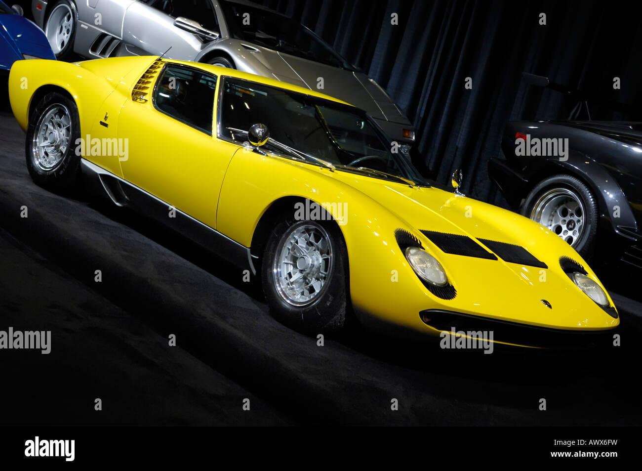 Lamborghini Miura 1969 voiture super rétro Photo Stock