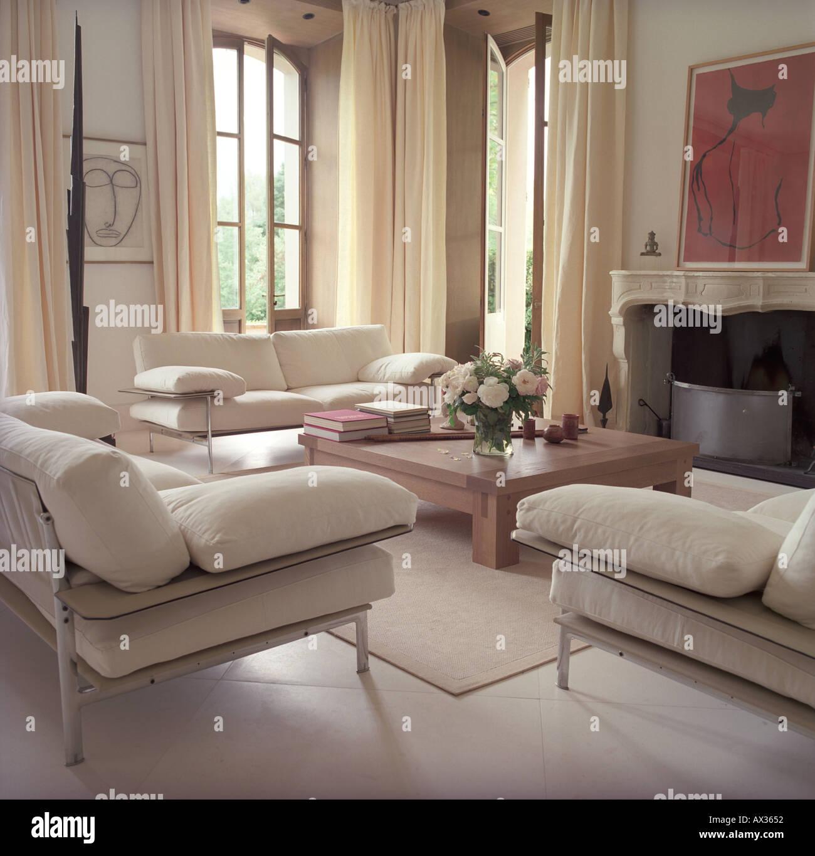 château de séjour luxe intérieur style campagne salon moderne