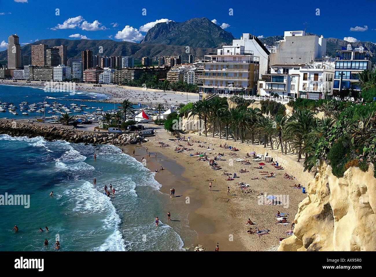 Playa Mal Pas, Benidorm, Provinz Alicante, Communauté Valencienne, Espagne Photo Stock