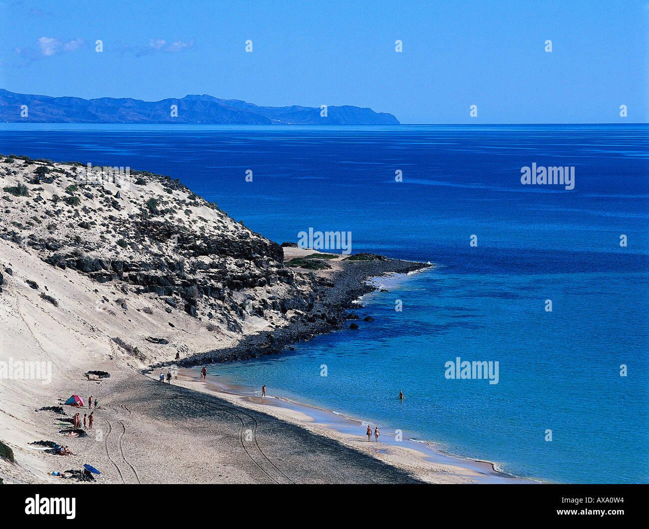 Playa Boca del Mal Nombre, Halbinsel Jandia, Fuerteventura Kanarische Inseln, Spanien Photo Stock