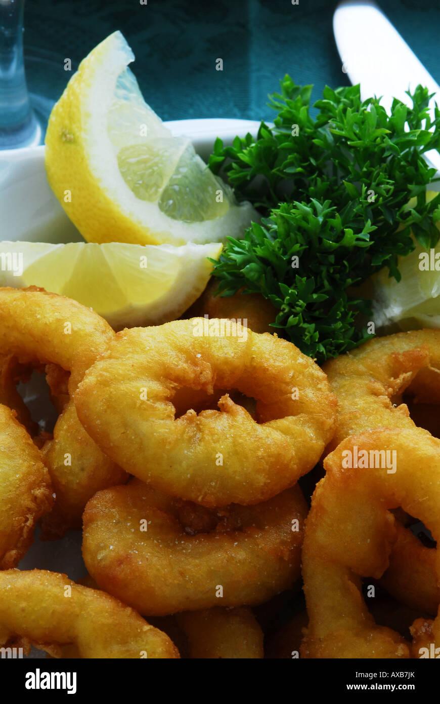 Fried calamari Fritti Banque D'Images