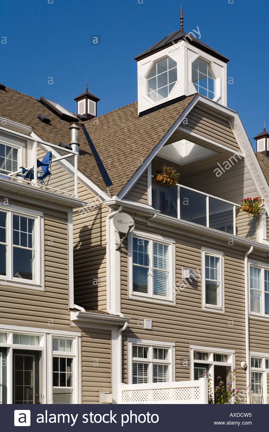 Village nautique des Grands Lacs appartements en copropriété un exemple de nouvel urbanisme à Pickering, Ontario Canada Banque D'Images