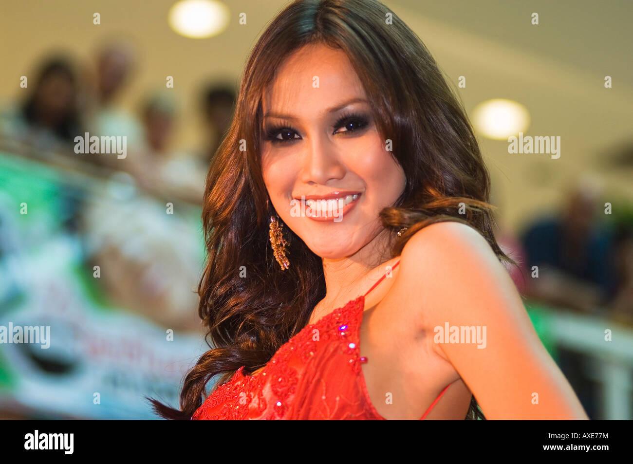 Asie Thaïlande Pattaya Ripley s Femme 2007 Concours de beauté pour les transsexuels Photo Stock
