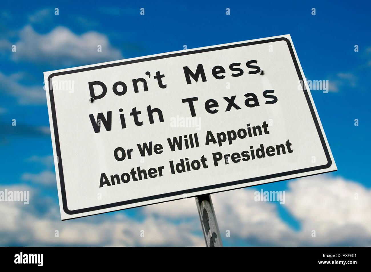 Le président signe idiot Photo Stock