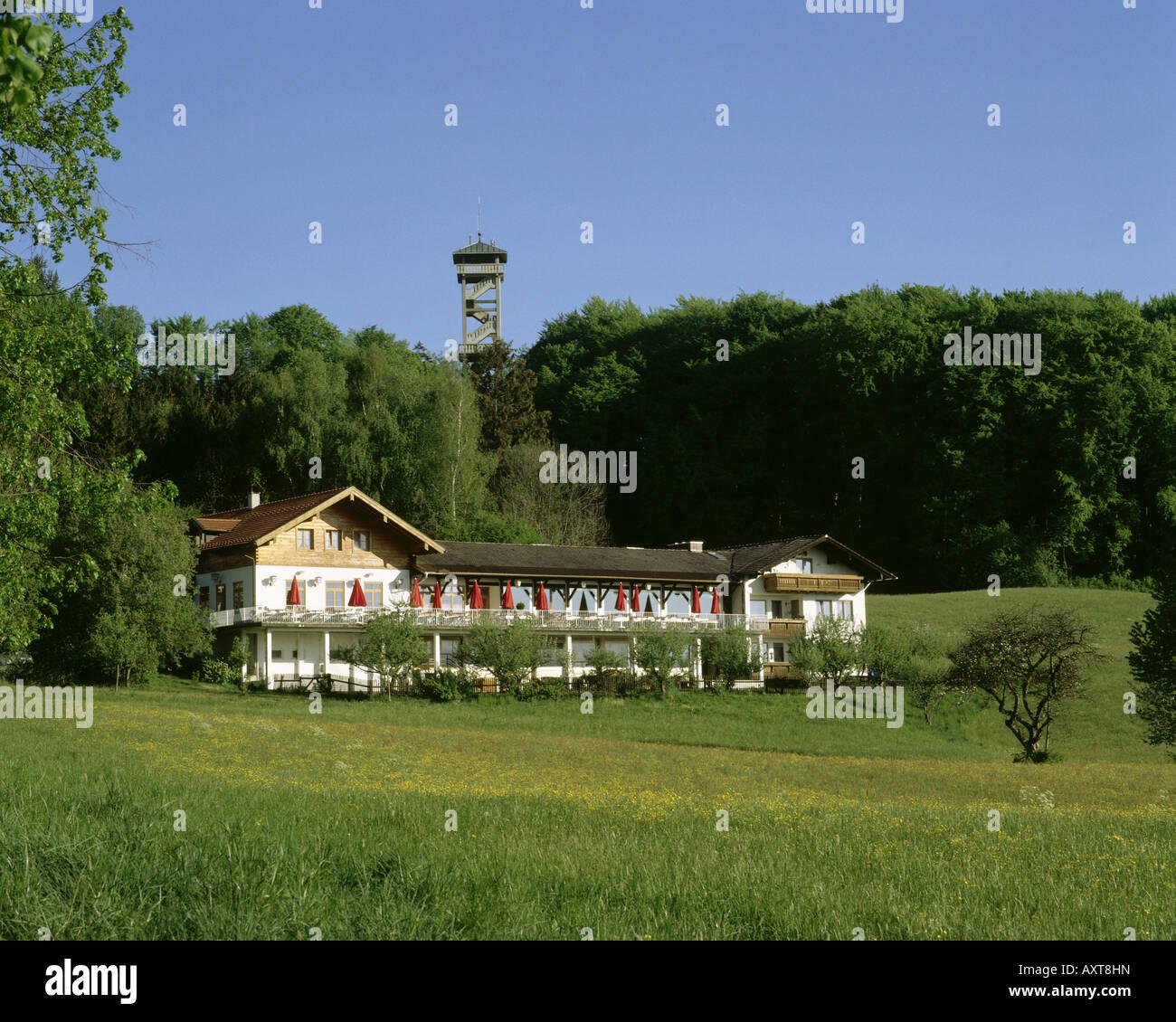 Géographie / voyage, Allemagne, Bavière, Ebersberg, gastronomie, restaurant avec Ebersberger Ludwigshöhe Photo Stock