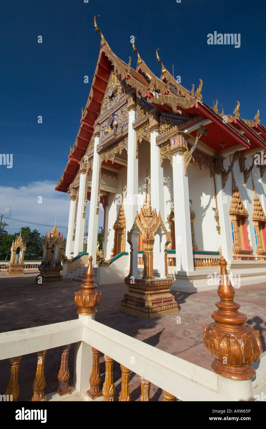 Temple Wat Chalong, Phuket, Thaïlande, Asie du Sud, Asie Photo Stock