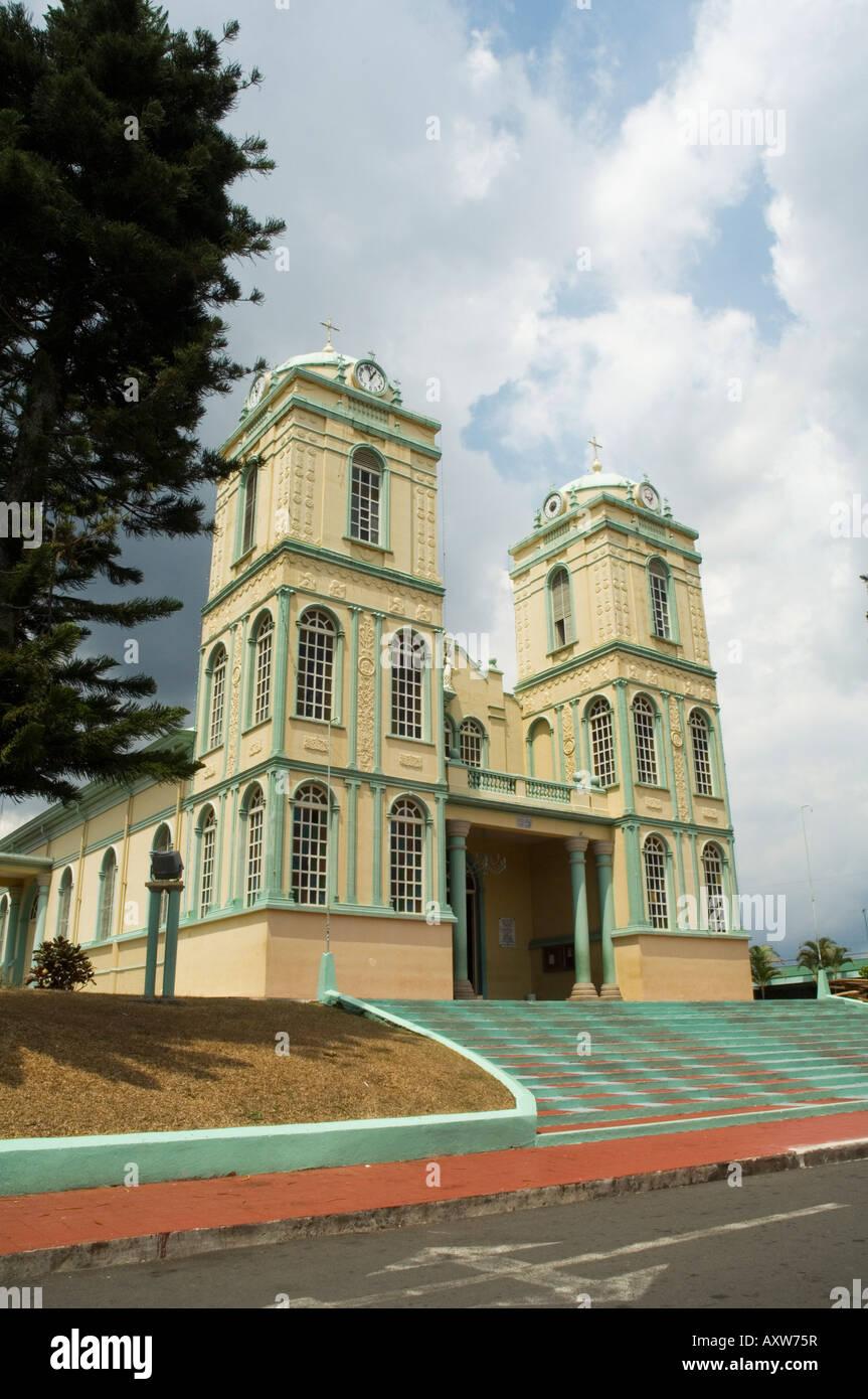L'église Iglesia de Sarchi, Sarchi, hauts plateaux du centre, le Costa Rica Photo Stock