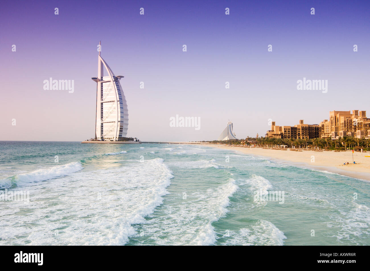 Burj Al Arab, Dubai, Émirats arabes unis, Moyen Orient Photo Stock