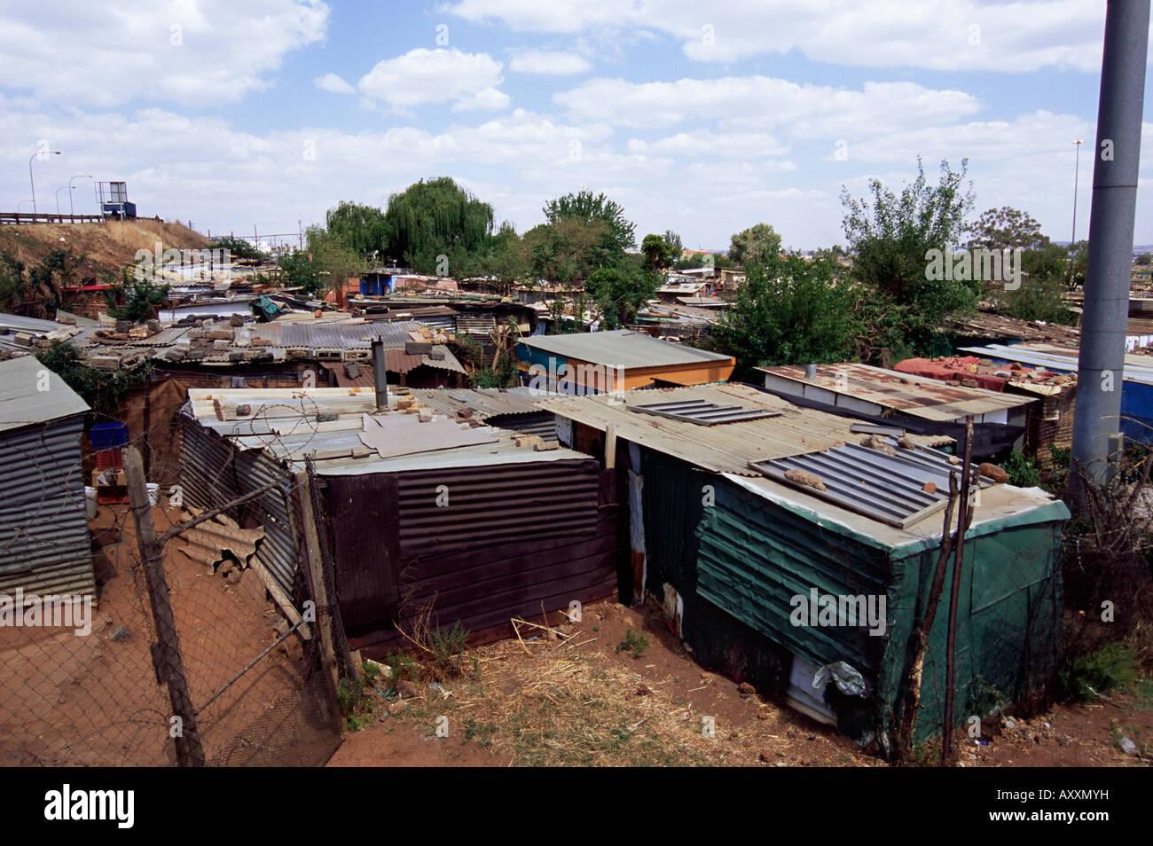 Des baraques, Soweto, Johannesburg, Afrique du Sud, l'Afrique Photo Stock