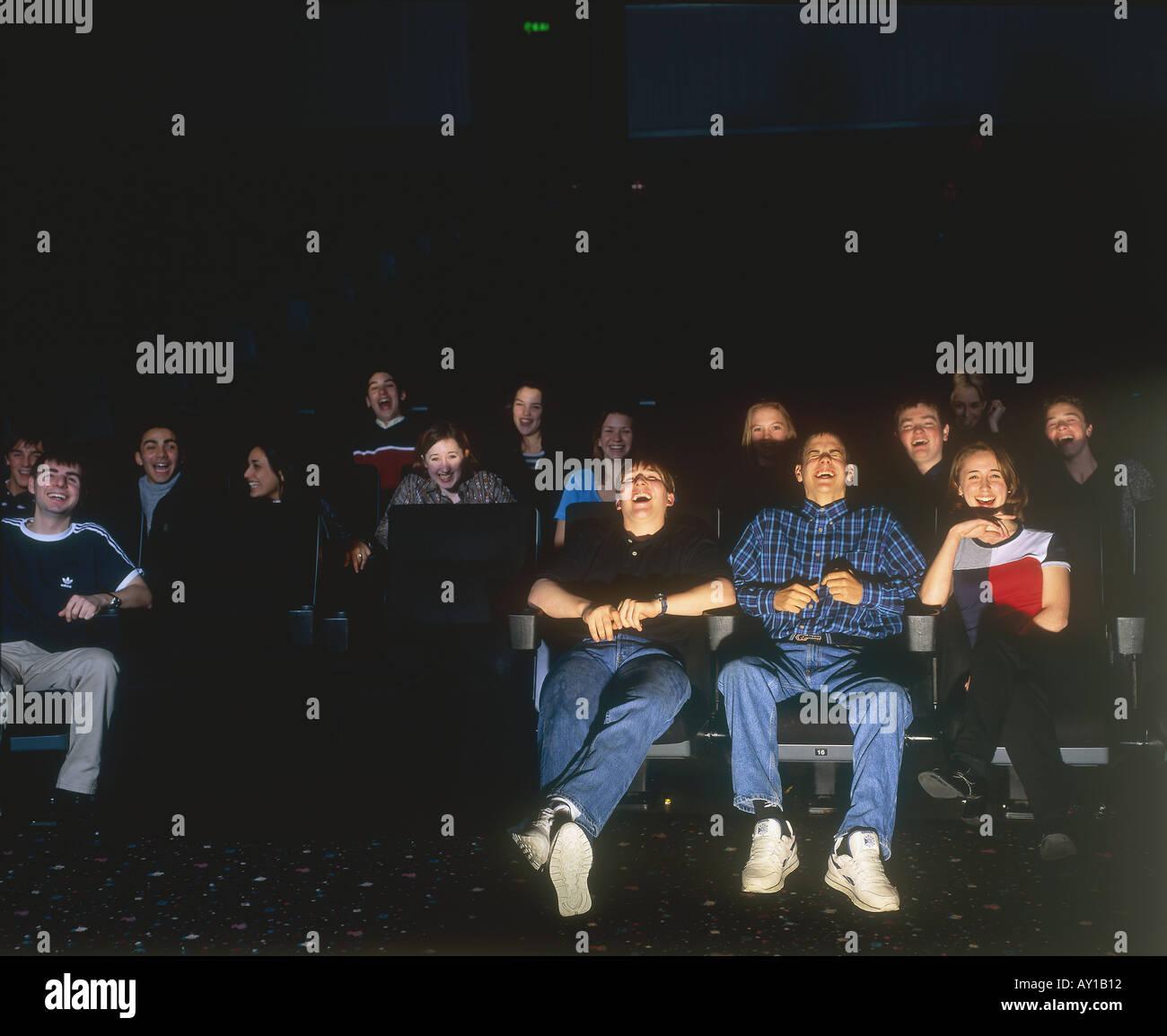 Public du cinéma Photo Stock