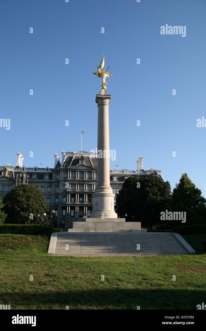 L'armée, Première Division Monument près de l'Ellipse à Washington DC (près de Photo Stock