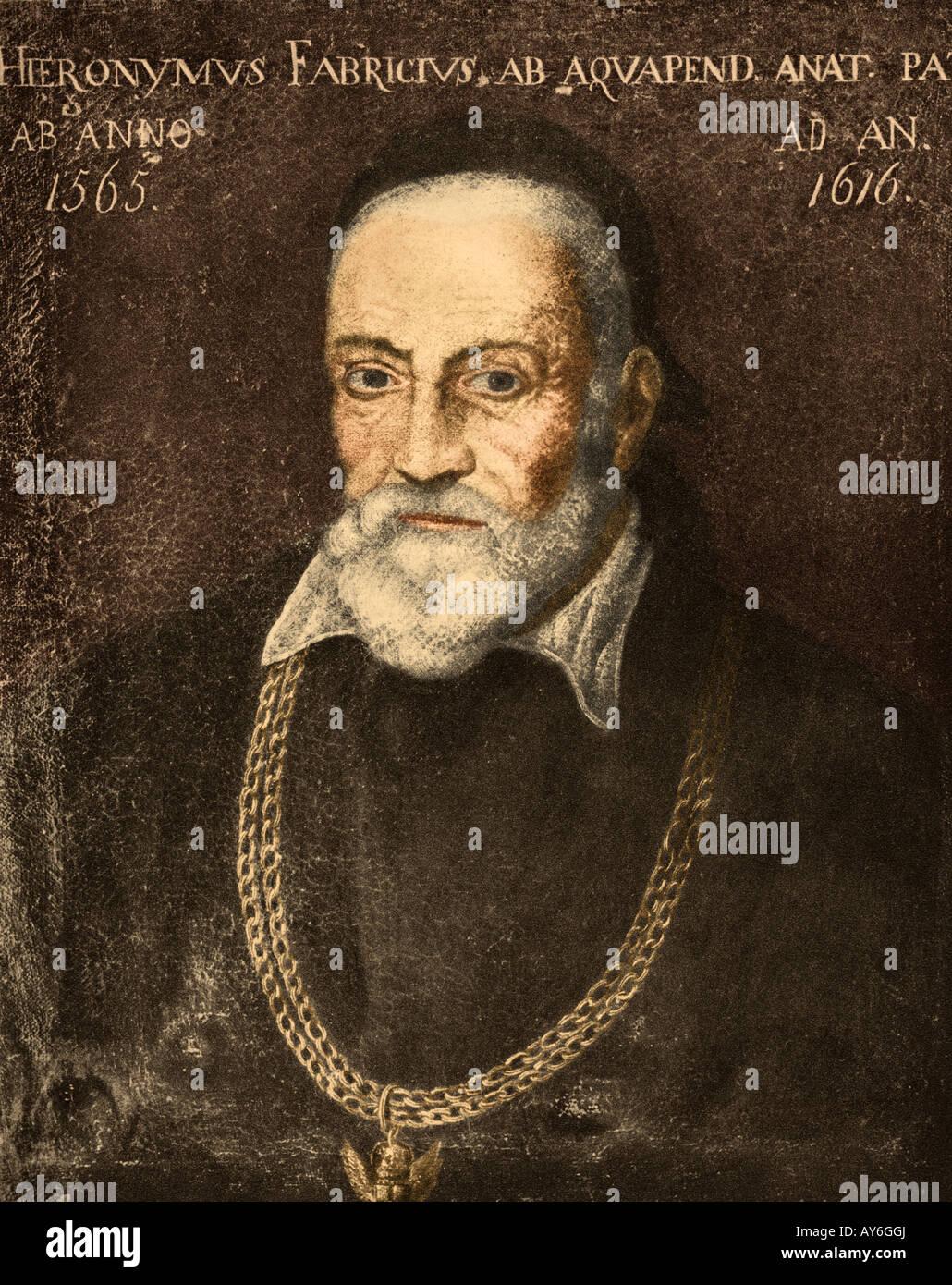 Hieronymus Fabricius anatomiste italien. Photo Stock