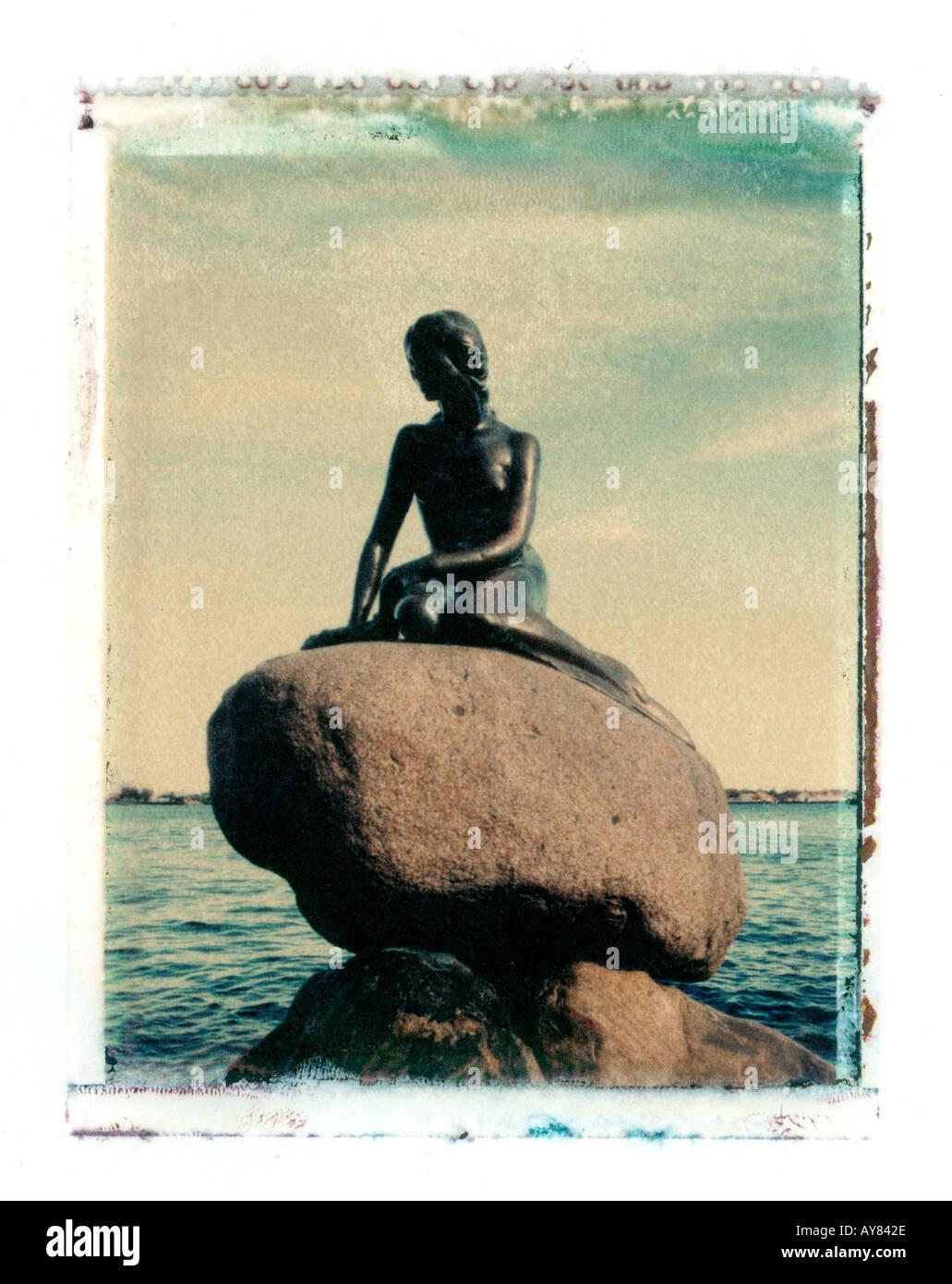 Statue de la Petite Sirène, Copenhague, Danemark Banque D'Images