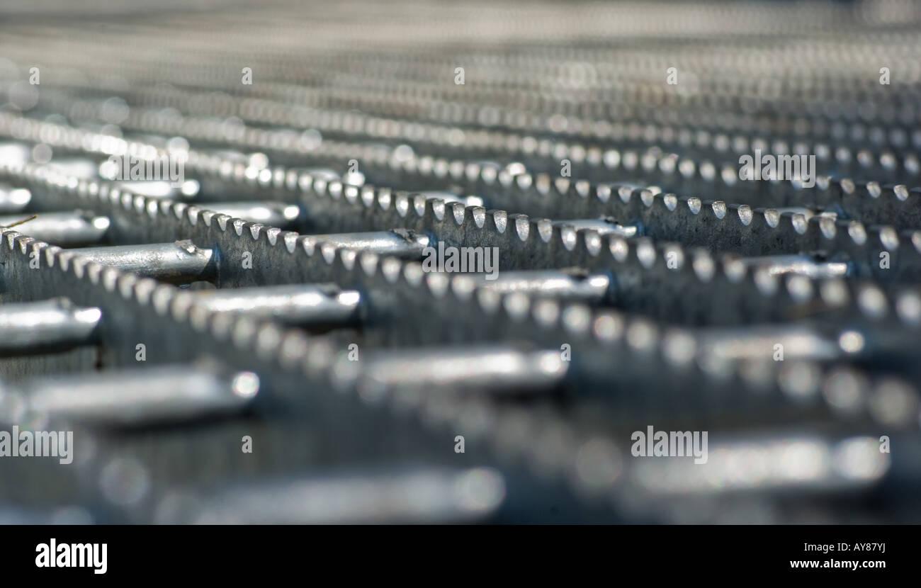 Résumé de droit de passage de la bande de roulement en acier Photo Stock