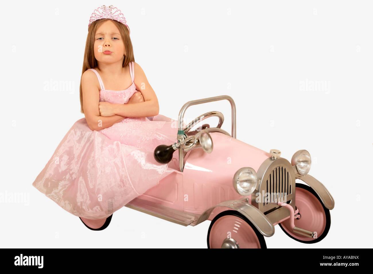 Petite Princesse gâtés Banque D'Images