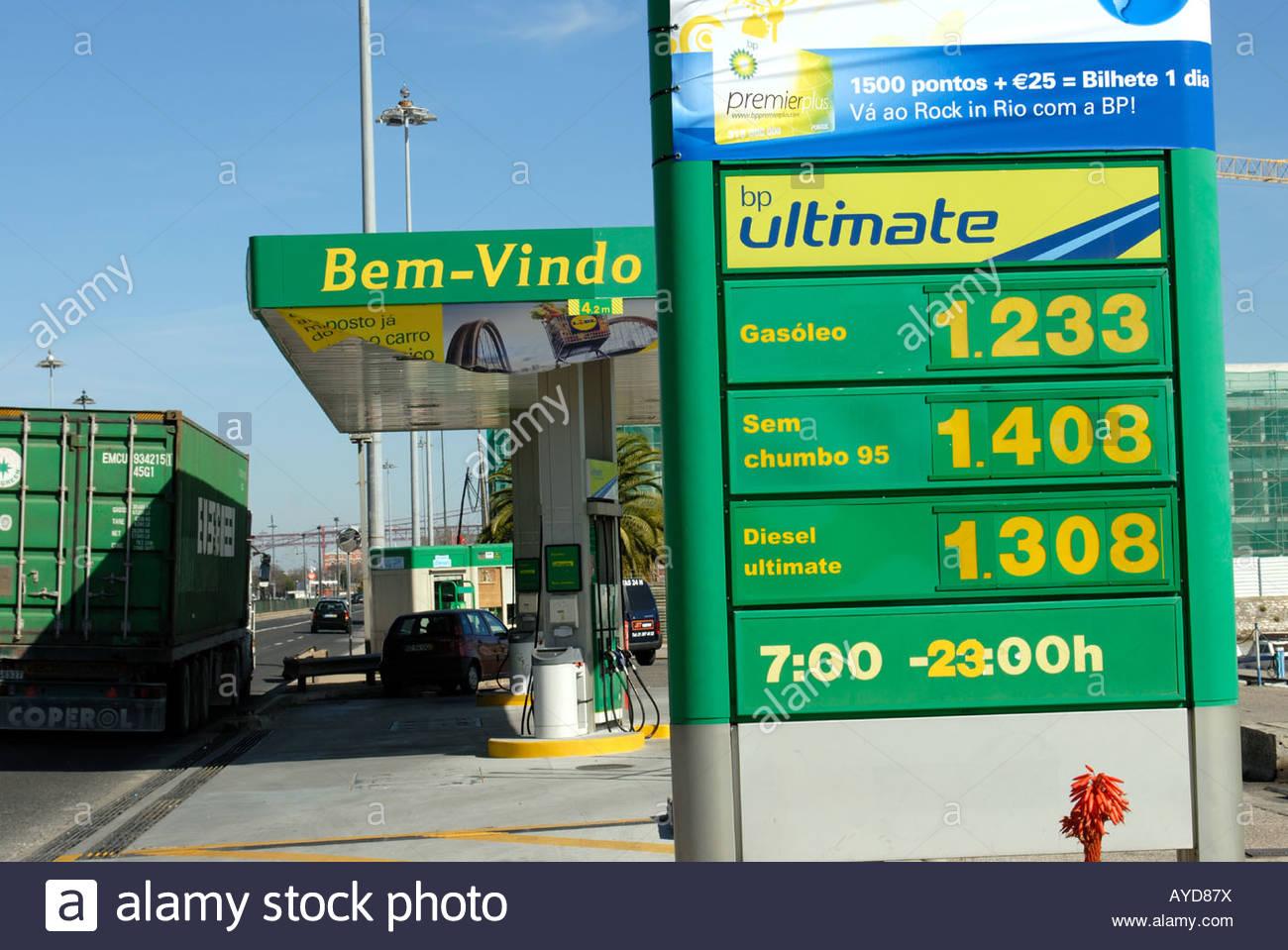 lisbonne portugal bp british petroleum station essence belem banque d 39 images photo stock. Black Bedroom Furniture Sets. Home Design Ideas
