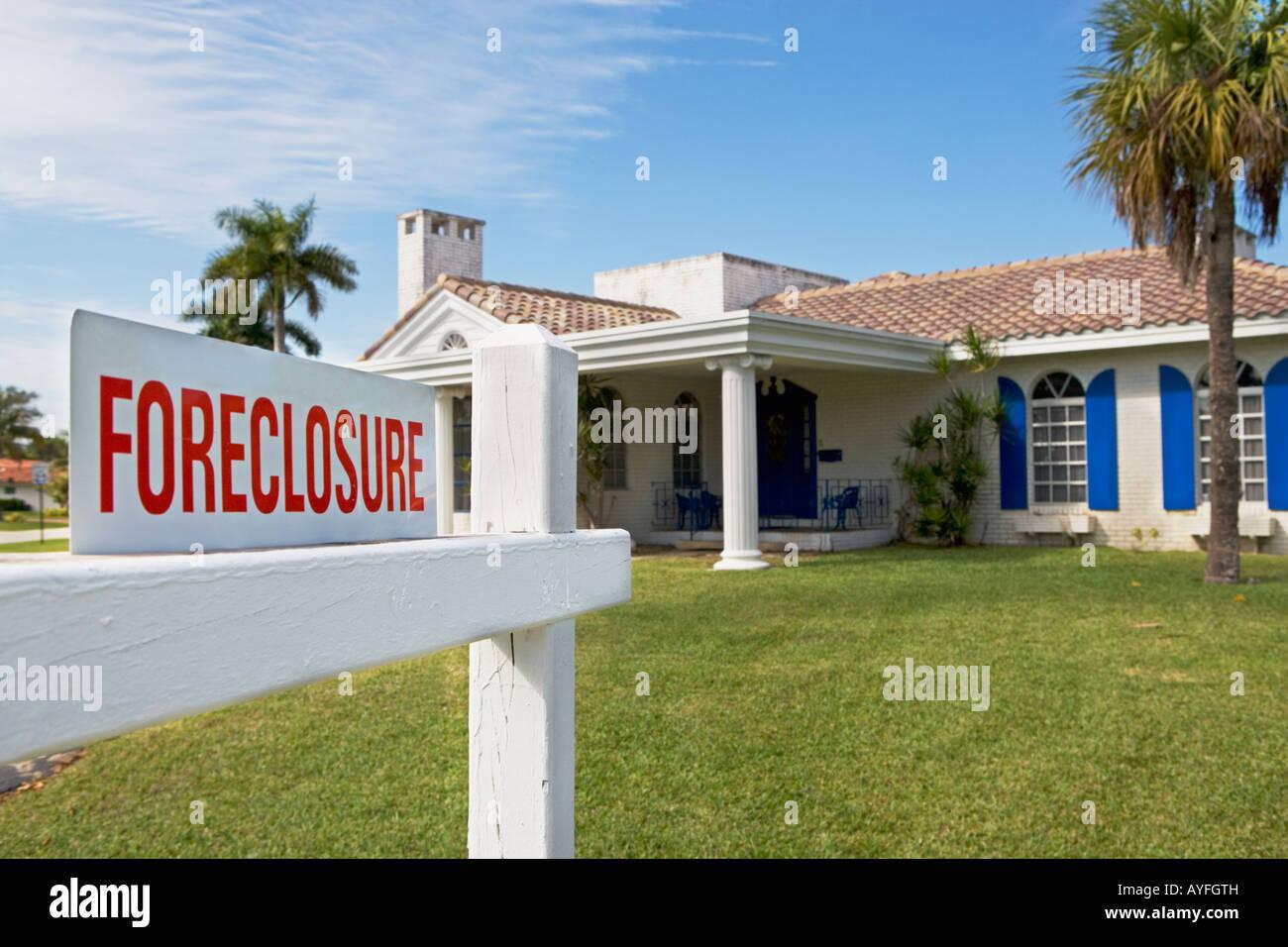 Signe de forclusion, immobilier Photo Stock