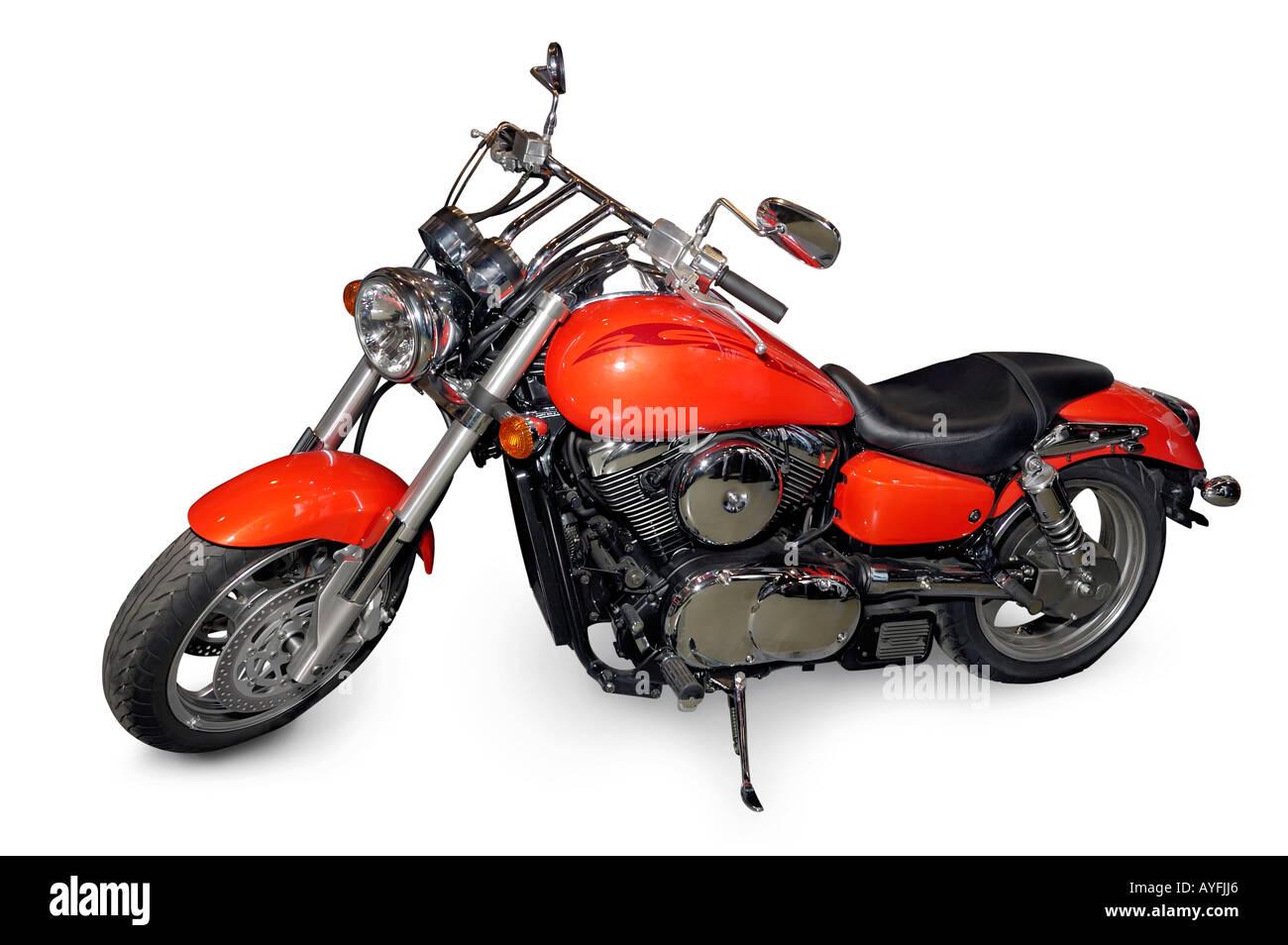 Moto Kawasaki Rouge Banque Dimages Photo Stock 9768101 Alamy