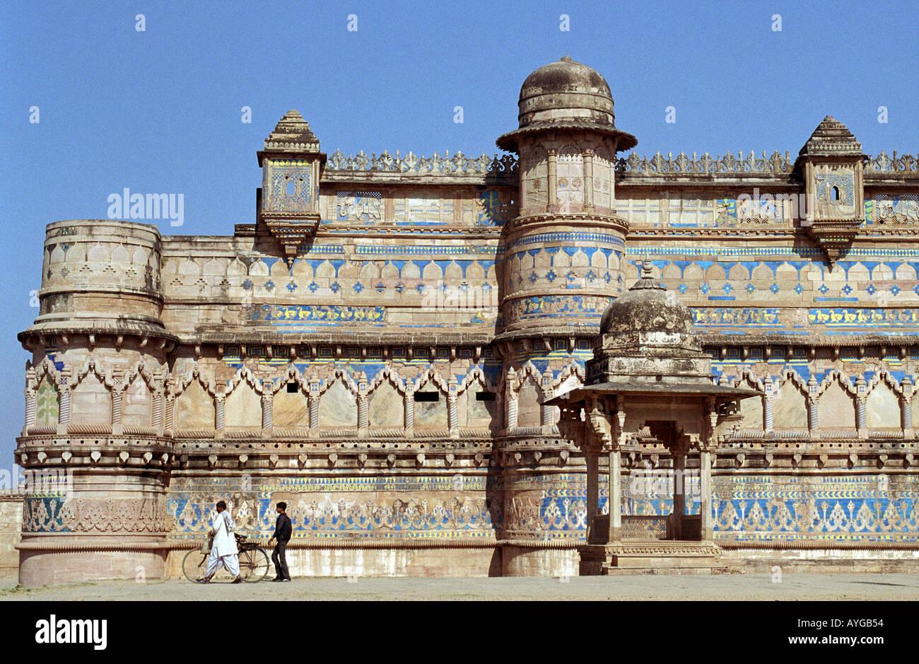 Man Singh Palace Fort De Gwalior Inde Banque Dimages Photo Stock
