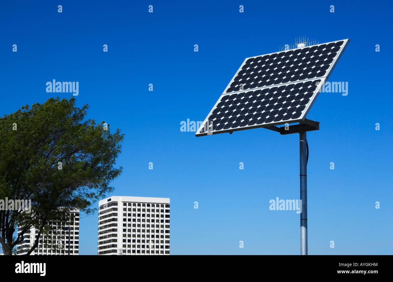Panneau solaire, le sud de la Californie Photo Stock