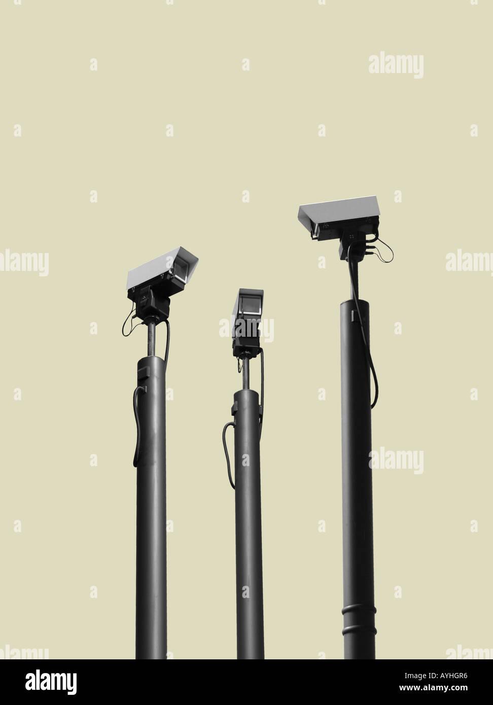 Caméras de télévision en regardant les uns les autres Photo Stock