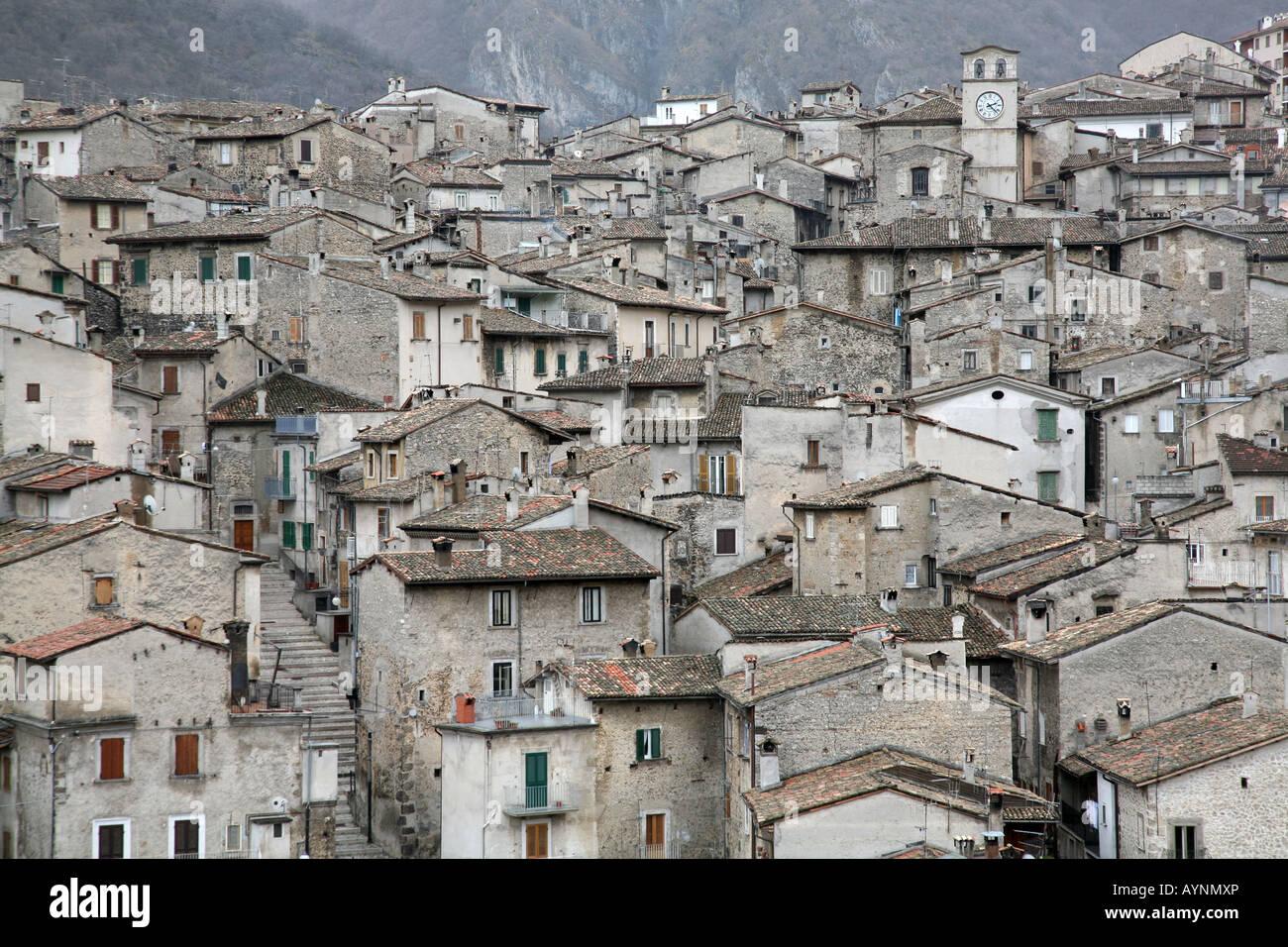 Acheter Une Maison En Italie Abruzzes scanno, abruzzes, italie, italia banque d'images, photo
