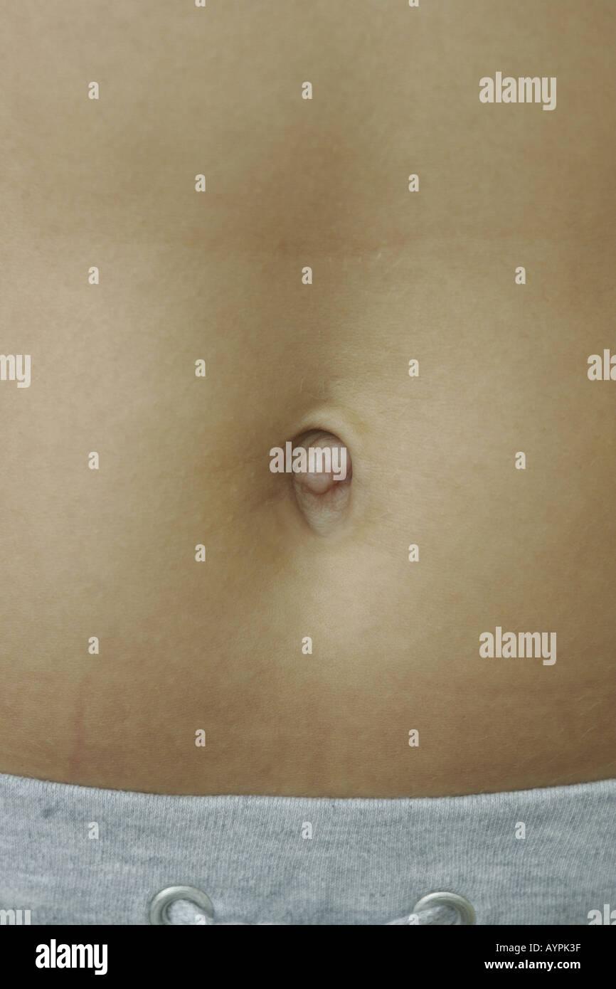 Un gros plan d'un nombril d'une femme Banque D'Images, Photo ...