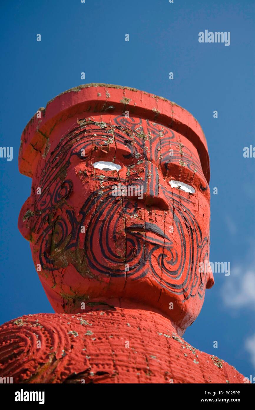 Sculpture Sur Bois Maori Whakarewarewa Village Thermal