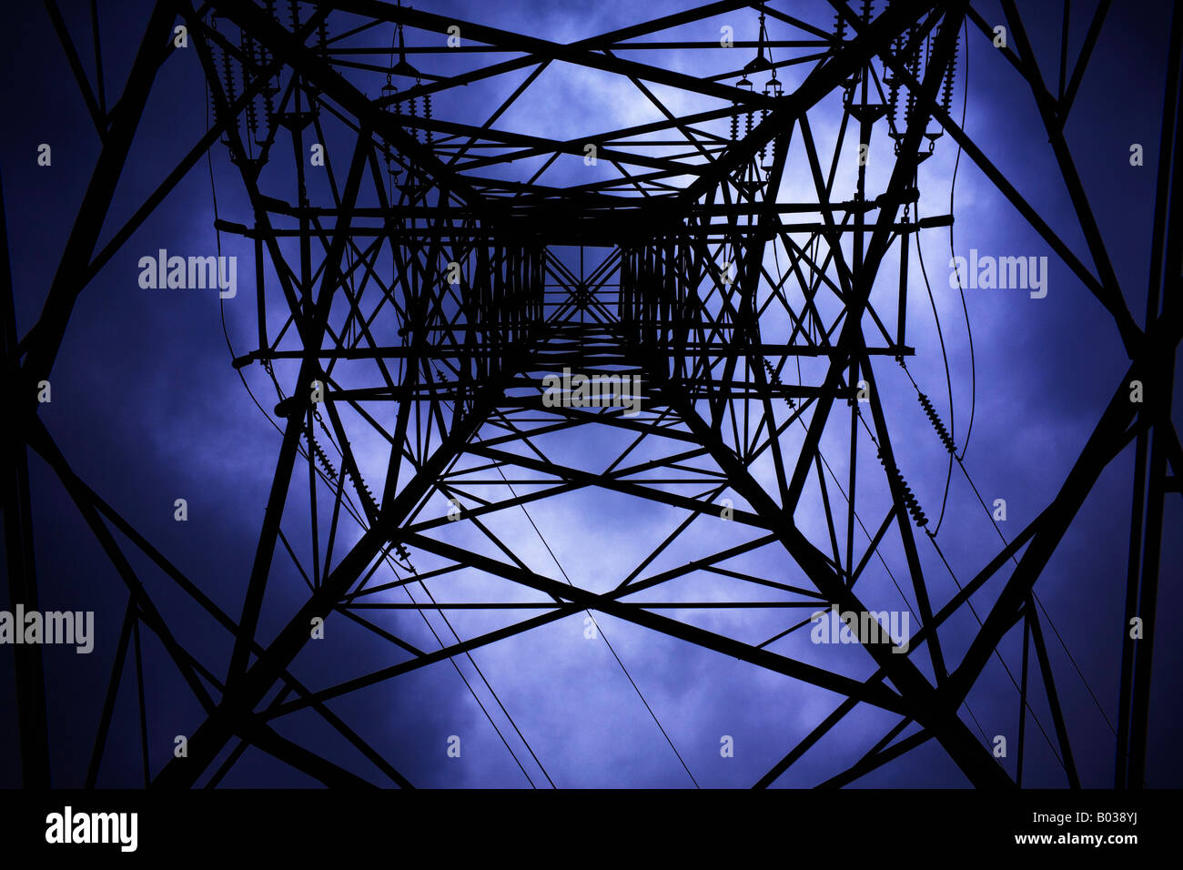 Pylône de l'électricité Photo Stock