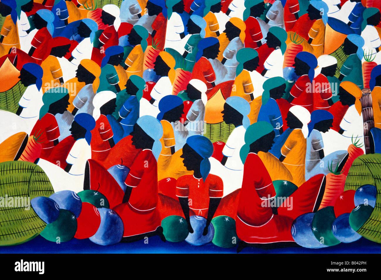 La peinture de la République dominicaine Photo Stock