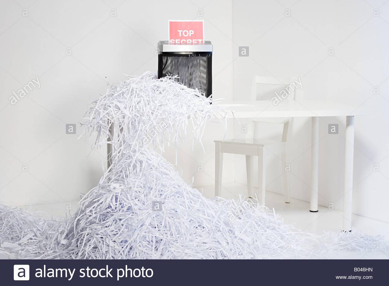 Déchiquetage de papier Photo Stock