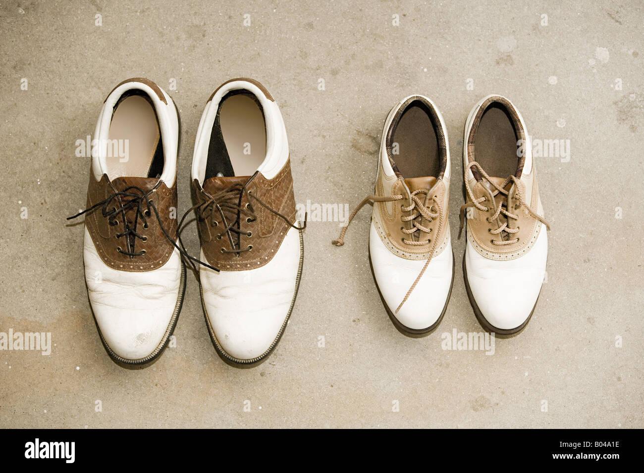 Deux paires de chaussures Photo Stock