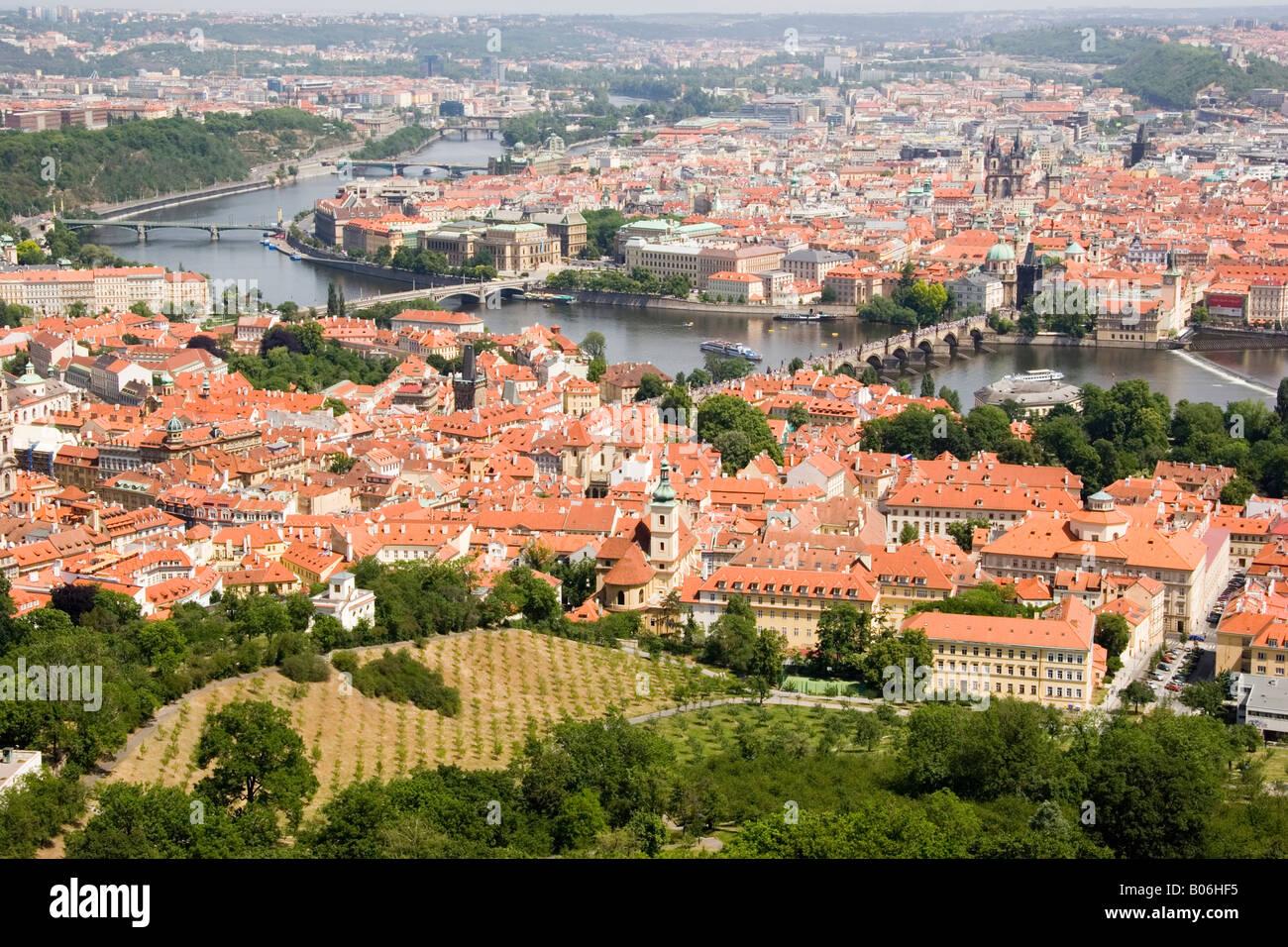 Cityscape view Prague Praha République Tchèque Photo Stock