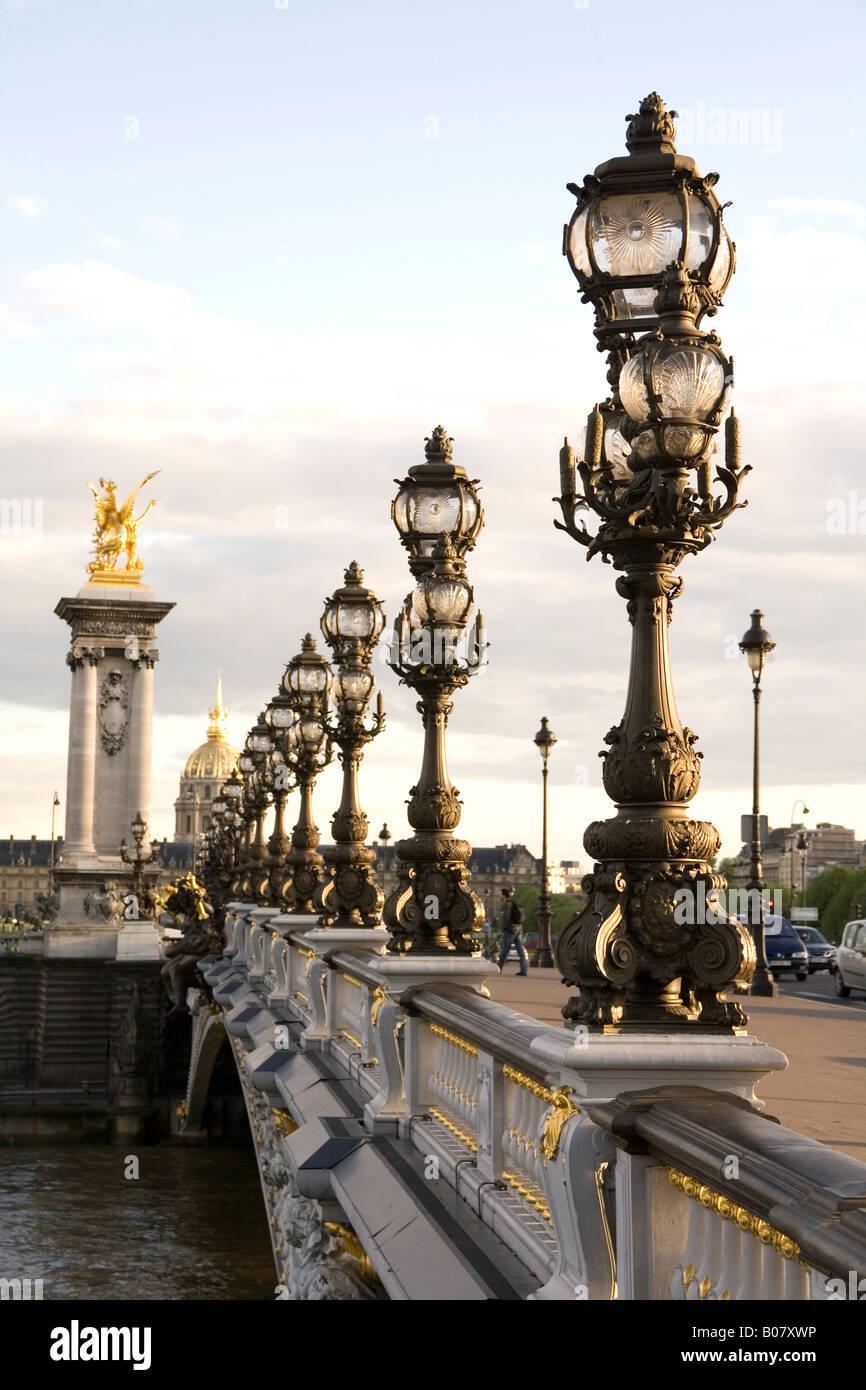 Pont Alexandre III pont, Paris, France Banque D'Images