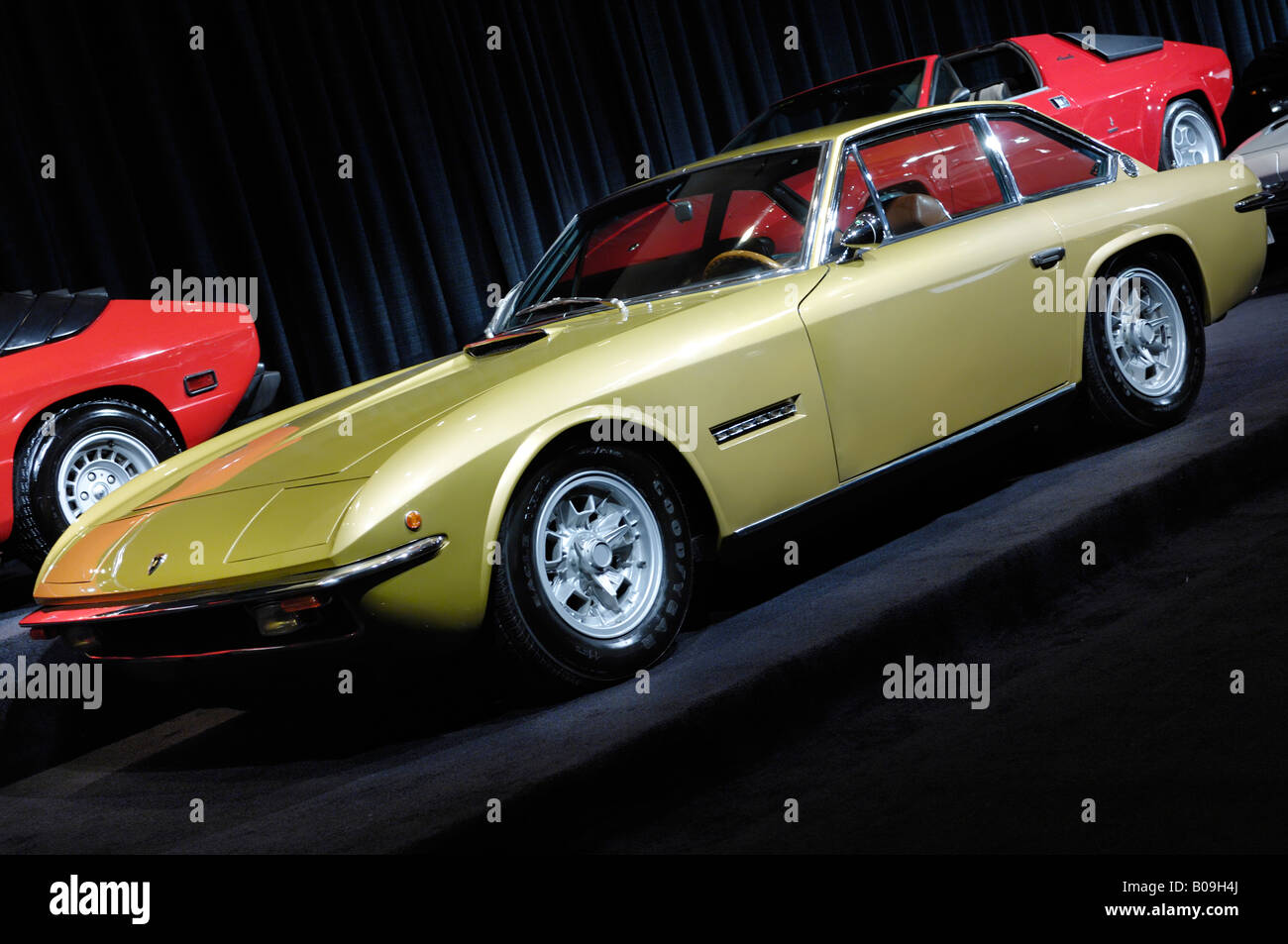 Lamborghini Islero 1972 Voiture de sport rétro Photo Stock