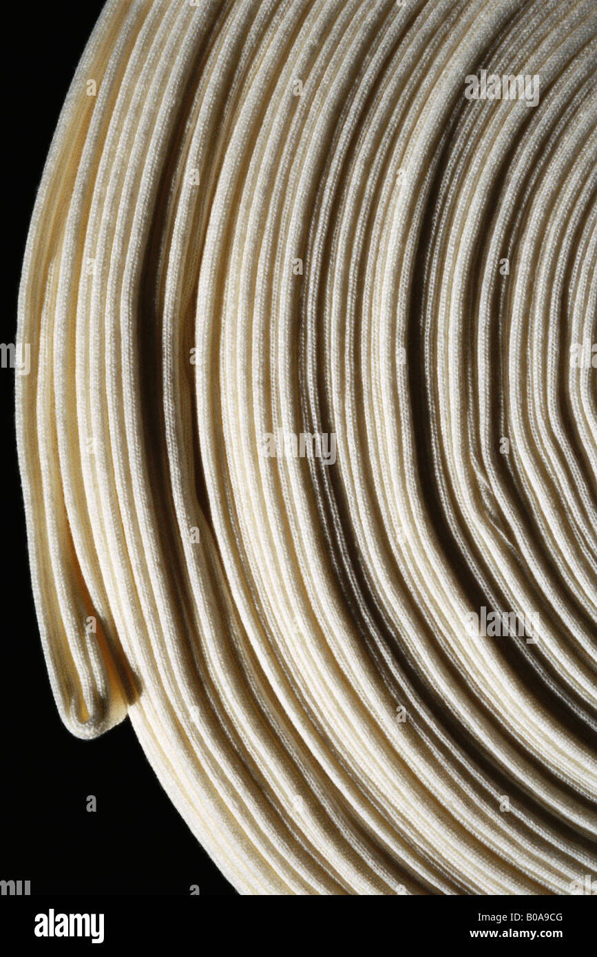 Tissu enroulé, extreme close-up Photo Stock