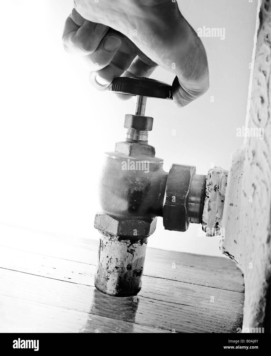 vanne de radiateur Photo Stock