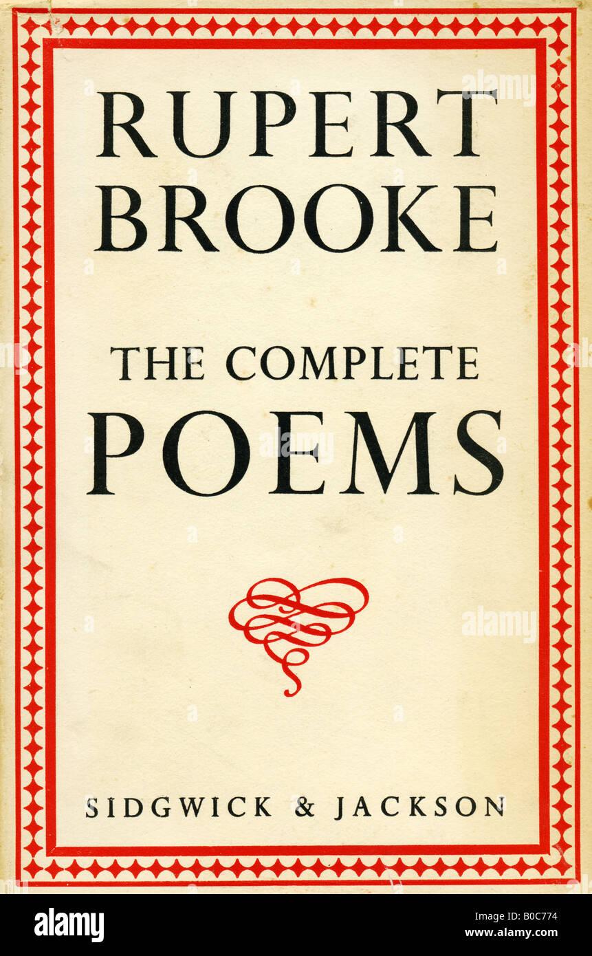 Rupert Brooke les poèmes complet Livre avec couvercle publié par Sidgwick & Jackson 1932 Londres pour un usage éditorial uniquement Banque D'Images