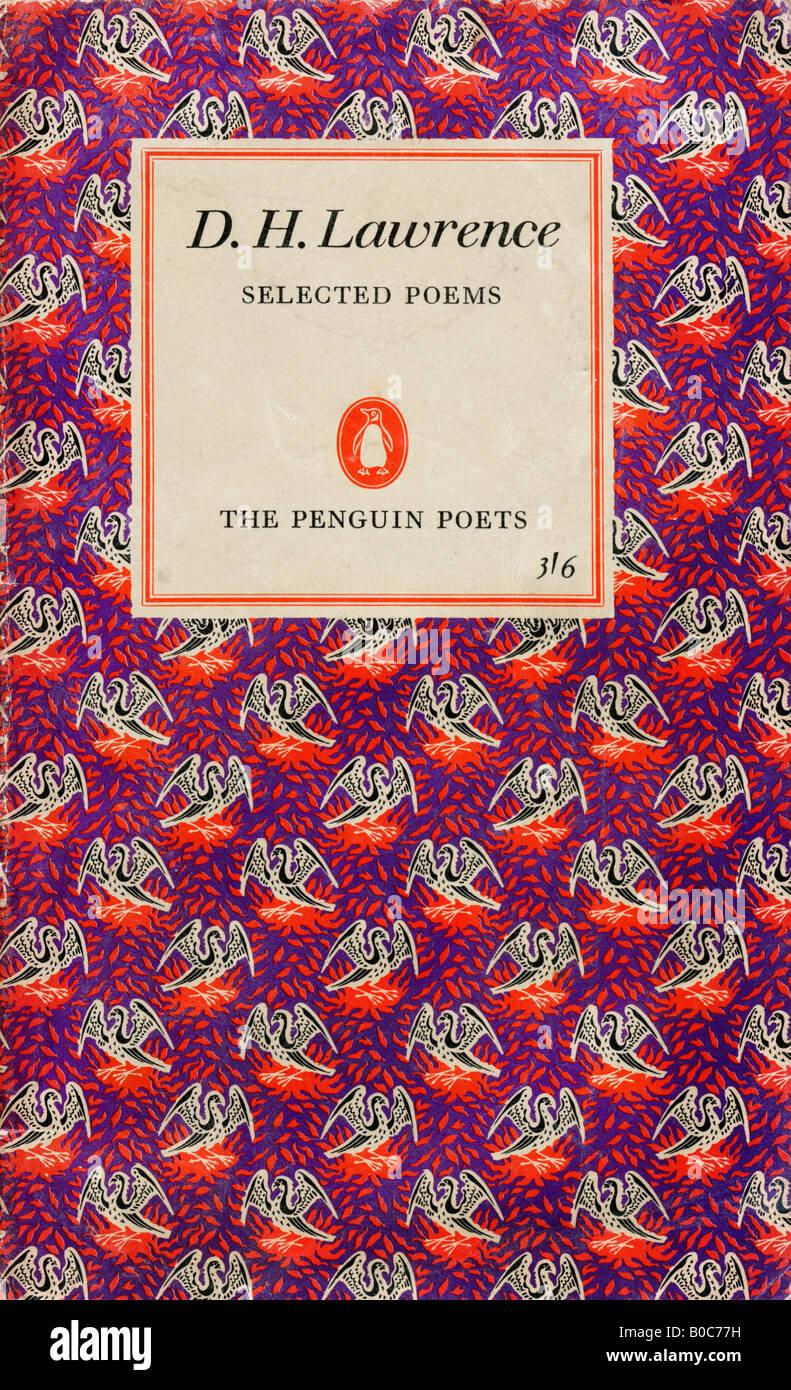 D H Lawrence Poèmes choisis Penguin Edition 1950 Réimpression 1965 pour un usage éditorial uniquement Banque D'Images