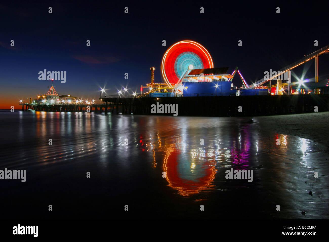 Santa Monica Pier pacific park Banque D'Images